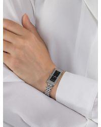 Gucci - Metallic Ya127504 Women's G-frame Rectangular Diamond Set Bangle Strap Watch - Lyst
