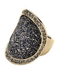 Dyrberg/Kern | Gray Dryberg Kern Carly Swarovski Crystal Ring | Lyst