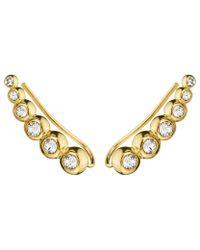 Dyrberg/Kern | Metallic Dyrberg/kern Swarovski Crystal Ear Cuffs | Lyst