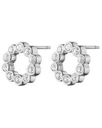Dyrberg/Kern | Metallic Dyrberg/kern Textured Crystal Round Stud Earrings | Lyst