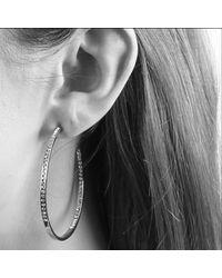 Dyrberg/Kern - Metallic Dyrberg/kern Quinn Slim Swarovski Crystal Hoop Earrings - Lyst