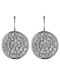 Dyrberg/Kern | Metallic Dyrberg/kern Desira Crystal Disc Drop Earrings | Lyst