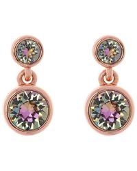 Karen Millen - Multicolor Swarovski Crystal Dot Drop Earrings - Lyst