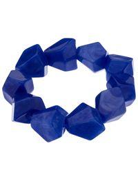 John Lewis | Blue Asymmetric Bead Stretch Bracelet | Lyst