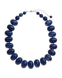 John Lewis - Blue Potato Bead Acrylic Statement Necklace - Lyst