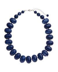 John Lewis - Blue Potato Bead Statement Necklace - Lyst