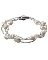 John Lewis | Metallic Faux Pearl And Bead Magnetic Clasp Bracelet | Lyst