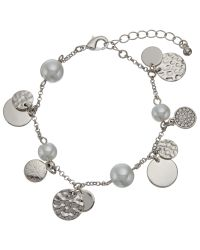 John Lewis | Metallic Faux Pearl And Disc Charm Chain Bracelet | Lyst