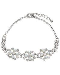 John Lewis | Metallic Faux Pearl And Cubic Zirconia Bracelet | Lyst