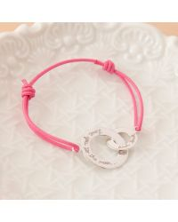 Merci Maman Pink Love You To The Moon And Back Charm Bracelet