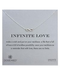 Dogeared - Metallic Sterling Silver Infinite Love Necklace - Lyst