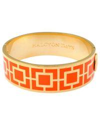 Halcyon Days | Orange 18ct Gold Plated Maya Bangle | Lyst