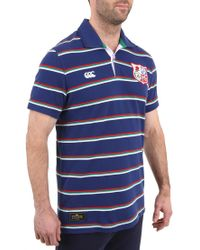 Canterbury | Blue British Lions Rugby Polo Shirt for Men | Lyst