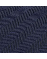 Reiss - Blue Haunt Herringbone Stripe Tie for Men - Lyst