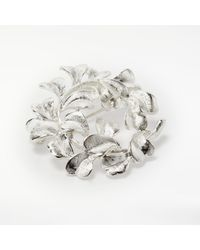 John Lewis - Metallic Silver Plated Glass Stone Christmas Tree Brooch - Lyst