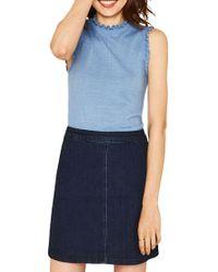 Oasis - Blue Ditsy Pie Crust Knit - Lyst