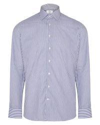 Hackett - Blue Bengal Stripe Tailored Fit Shirt for Men - Lyst