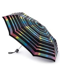 Fulton - Black Superlite Magic Stripe Folding Umbrella - Lyst