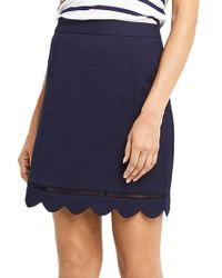 Oasis - Blue Scallop Skirt - Lyst