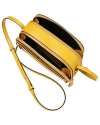 L.K.Bennett | Yellow Mariel Leather Across Body Bag | Lyst