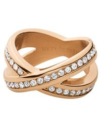 Dyrberg/Kern - Pink Dyrberg/kern Crystal X-design Ring - Lyst
