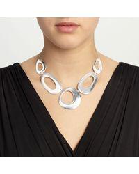 John Lewis - Metallic Cutout Circles Necklace - Lyst