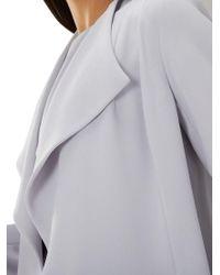 Coast - Gray Shanie Drape Jacket - Lyst