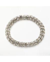 John Lewis - Metallic Cubic Zirconia Ring Stretch Bracelet - Lyst