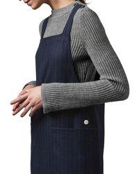 Toast - Blue Pinstripe Wool Apron Dress - Lyst