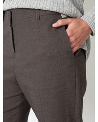 John Lewis - Gray Straight Leg Flannel Trousers - Lyst
