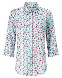 John Lewis | Blue Poppy Print Shirt | Lyst