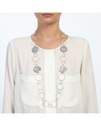 John Lewis | Metallic Large Circles Long Necklace | Lyst