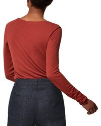 Toast | Red Long Sleeve Fine Wool Top | Lyst