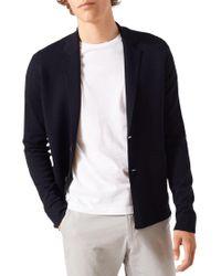 Jigsaw - Blue Merino Milano Single Breasted Blazer for Men - Lyst
