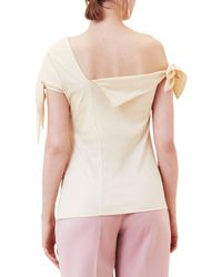 Finery London - Multicolor Epsom Off The Shoulder Knot T-shirt - Lyst