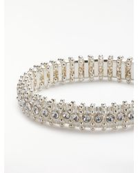 John Lewis - Metallic Sparkle Crystal Stretch Bracelet - Lyst