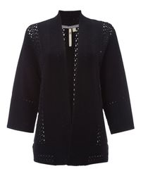 White Stuff - Black Harbour Crochet Knit Cardigan - Lyst