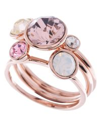 Ted Baker - Pink Jackie Jewel Clustered Ring - Lyst