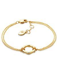 Missoma - Metallic 18ct Gold Vermeil Magma Circle Bracelet - Lyst