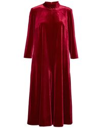 French Connection - Red Amber Velvet Jumpsuit - Lyst