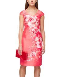 Jacques Vert | Pink Shantung Floral Placement Dress | Lyst