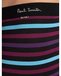 Paul Smith - Purple Block Stripe Trunks for Men - Lyst
