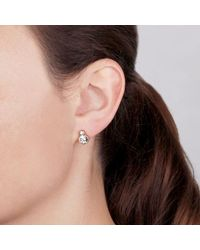 Dyrberg/Kern - Metallic London Swarovski Crystal Round Stud Earrings - Lyst