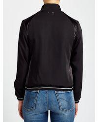Calvin Klein - Black Olsa Material Mix Bomber Jacket - Lyst