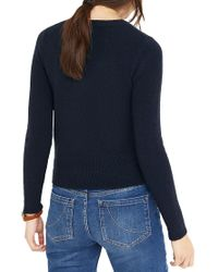 Oasis - Blue Robin And Holly Xmas Jumper - Lyst