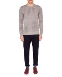 Ted Baker - Natural Crazy Jumper for Men - Lyst