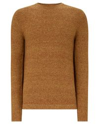 John Lewis - Brown Twisted Yarn Silk Blend Jumper for Men - Lyst