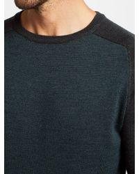 John Lewis - Gray Merino Birdseye Raglan Sleeve Jumper for Men - Lyst