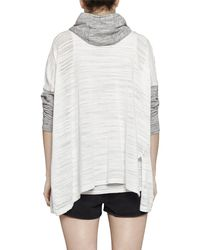 French Connection - White Klint Stitch Knit Hooded Sweatshirt - Lyst
