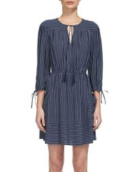Whistles - Blue Eleri Stripe Dress - Lyst
